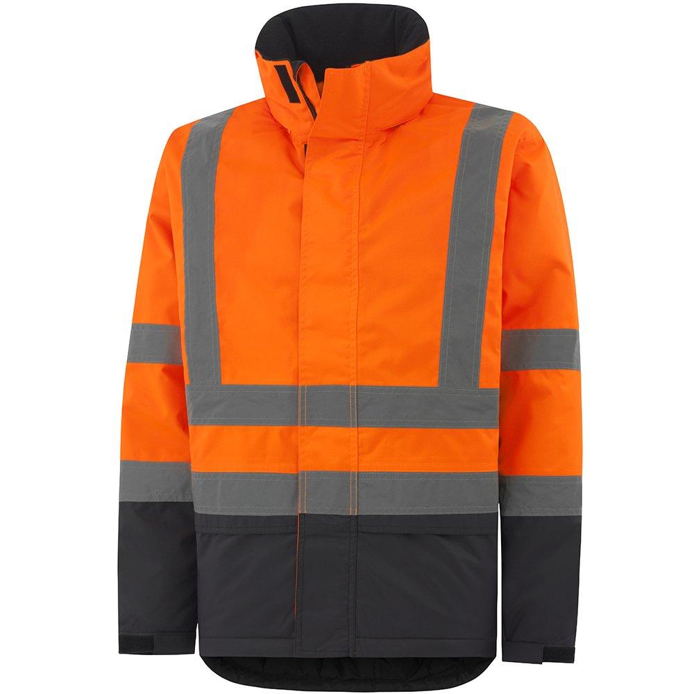 Helly Hansen 70335_269-XS Alta Insulated Hi-Vis Jacket, X-Small, Orange/Charcoal