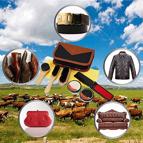 Sundlight 8 Piece Shoe Care Set,Travel Shoe Shine Brush kit for Leather Shoes,Purse,Hat,Belt by Sundlight (Image #3)