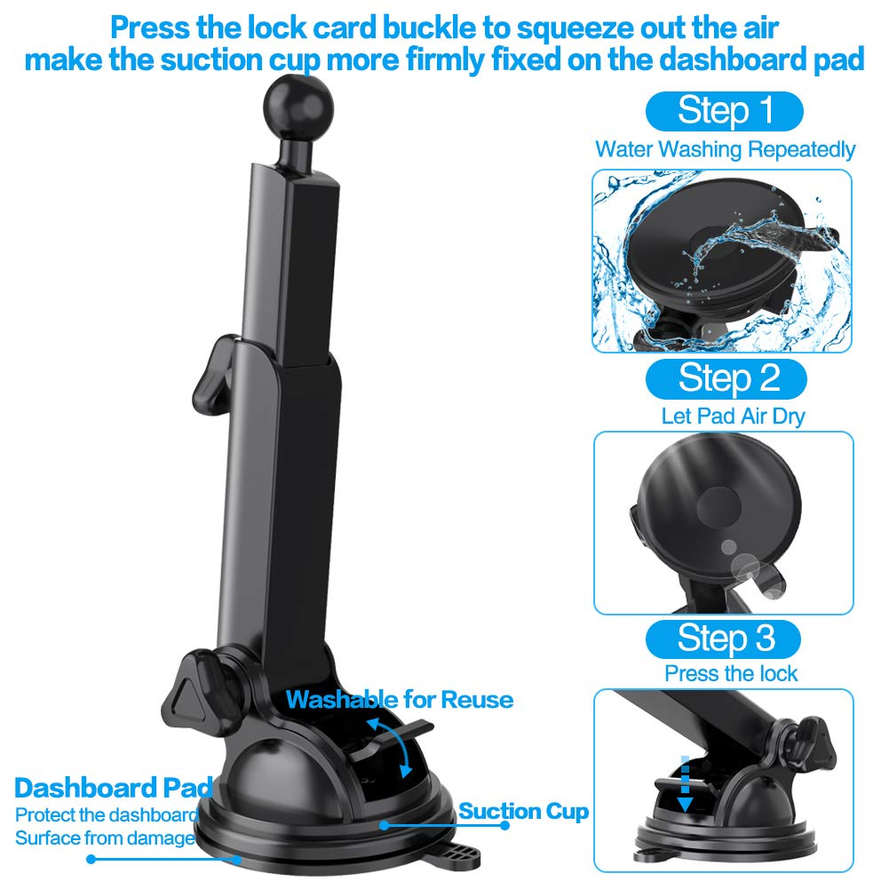 ARCBLD Car Mount Wireless Charger Dash Phone Mount Automatic Clamping Qi Fast Charger for iPhone Xs max//XR//X//8//8 Galaxy S9//S9+//S8//S8+