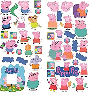 Peppa Pig Wall Stickers Mural Decal Art Wallpaper Sticker Wall Art Peppa Pig Famaly Sticker Light Switch Plug Surround Stickers 70cm X 35cm X 2