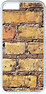 Brick Wall Apple iPhone 6 Case, iPhone 6 (4.7 inch) Hard Shell White Cover Cases by iCustomonline
