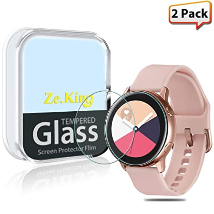 [2-Pack] Samsung Galaxy Watch Active R500 Smartwatch Tempered Glass Screen Protector, [Full Screen Coverage] HD Clear [Anti ...