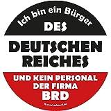 Aufkleber / Sticker - Ich bin ein Bürger des Deutschen Reiches ... (Sticker-Set, 10 Stück)