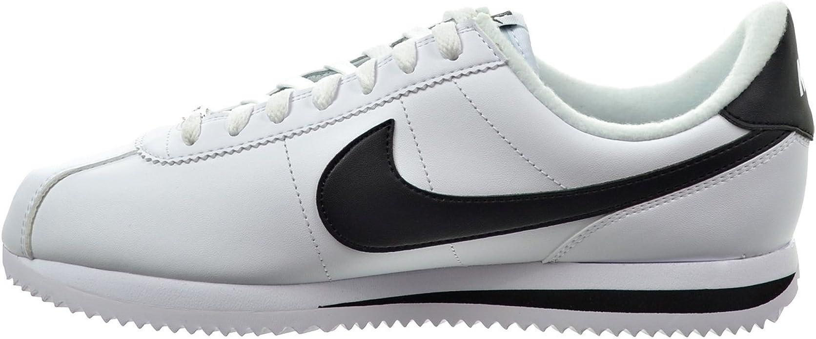 nike cortez leather bianco