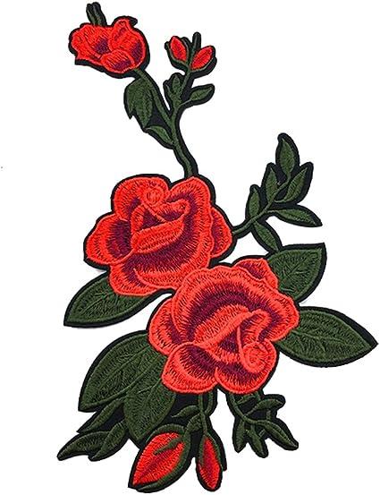 Dosige Autocollants De Broderie Beau Rose Fleur Dessin Autocollant