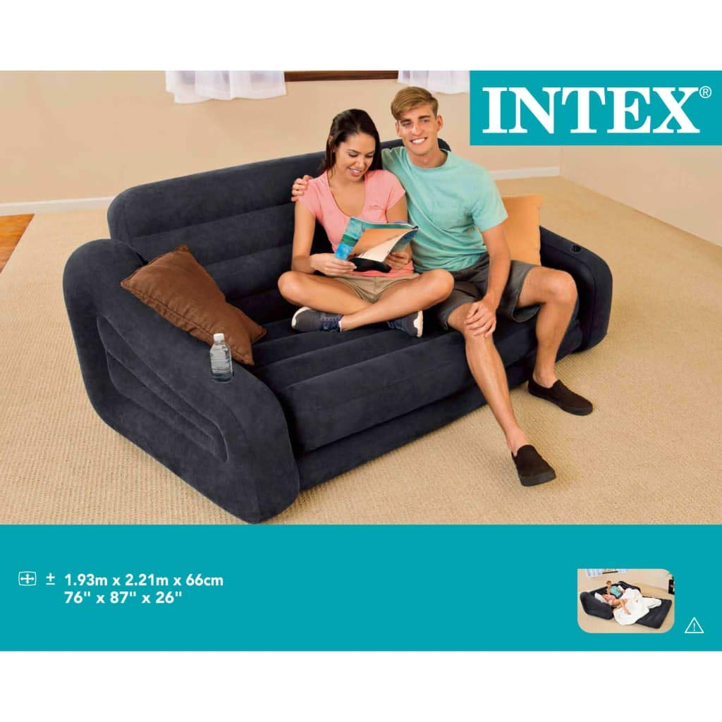 Intex Sofá/ cama hinchable para 2 personas 68566NP, 193 x 221 66 ...