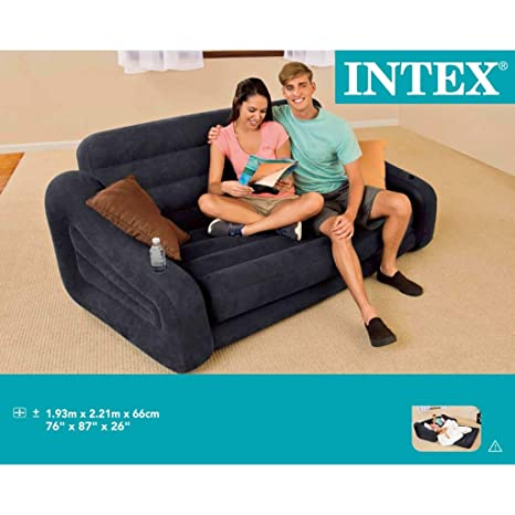 Intex Sofá/ cama hinchable para 2 personas 68566NP, 193 x ...