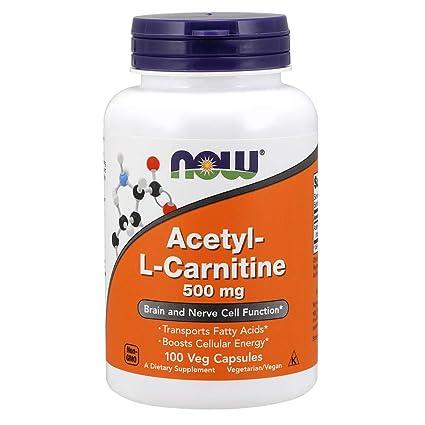 Now Foods Acetyl L-Carnitine 500mg Standard - 100 Cápsulas
