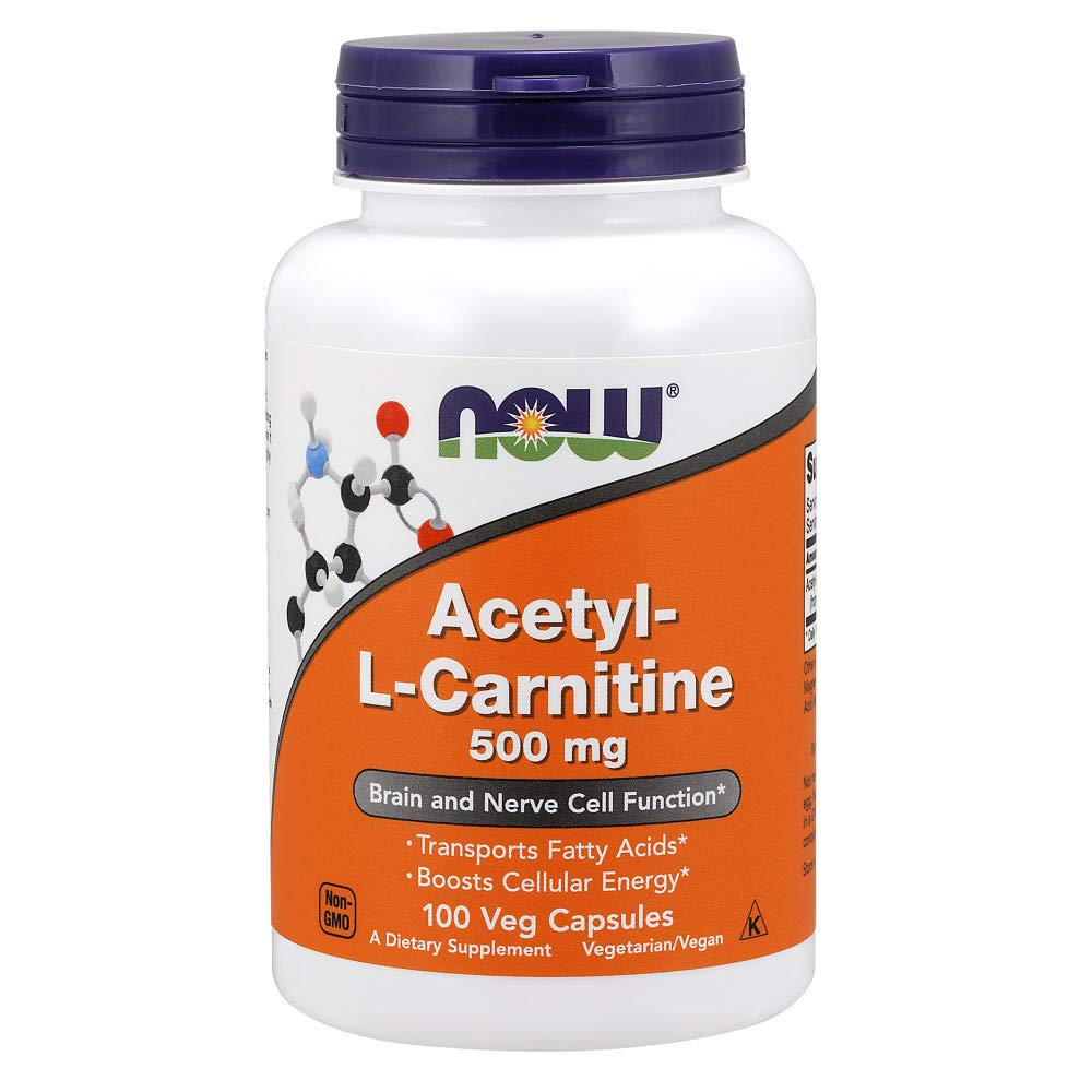Now Acetyl-L Carnitine 500 mg,100 Veg Capsules