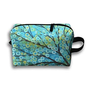 Amazon.com: Hermoso árbol pequeño bolsa de aseo de viaje ...