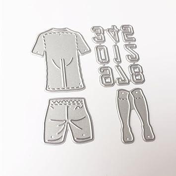 Kalttoy Fußball Wear Number Stanzformen Schablone DIY Scrapbooking ...