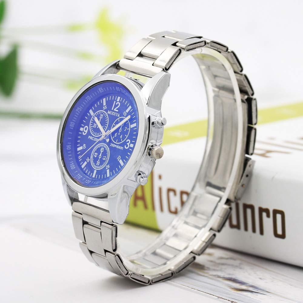 MURTIAL Stainless Steel Sport Quartz Hour Wrist Analog Watch Wrist Watch Fashion Comfortable Wristwatch(Large(Man),Free) by MURTIAL Watch (Image #2)