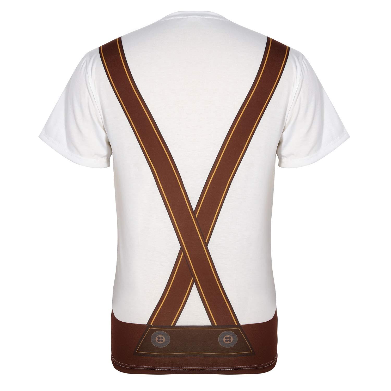 XL SATINIOR Dise/ño del Pecho Peludo de Oktoberfest para Hombre Disfraces Alemanes Lederhosen Trajes de Camiseta