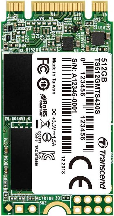 Transcend MTS430S – Disco Solido Interno de 512GB M.2 2242 SATA ...