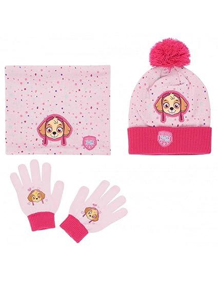 La Pat  Patrouille Ensemble Snood, bonnet et gants enfant fille Rose de 3 à  9ans  Amazon.fr  Vêtements et accessoires 5f538850b8d