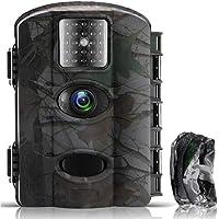 Fantasky Cámara de Caza 16MP 1080P Cámara de vigilància de la Vida Silvestre,Cámara de Juego de detección Nocturna sin LED de Brillo Diseño Impermeable IP65