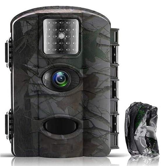 Cámara de Caza Vigilancia 16MP y 1080P Trail Cámara Impermeable IP65 con Infrarrojos PIR Sensor de Movimiento con Lapso de Tiempo 65ft Visión Nocturna hasta ...