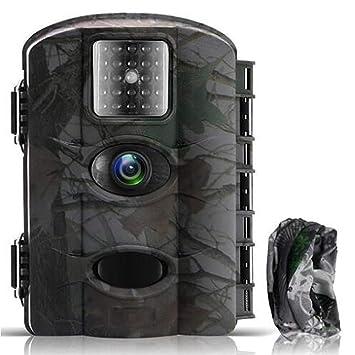 Cámara de Caza Vigilancia 16MP y 1080P Trail Cámara Impermeable IP65 con Infrarrojos PIR Sensor de
