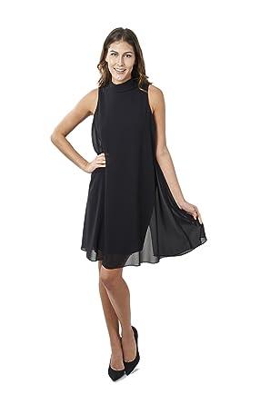Joseph Ribkoff Black Semi-Sheer A-line Sleeveless Dress Style 163261 - Size 4