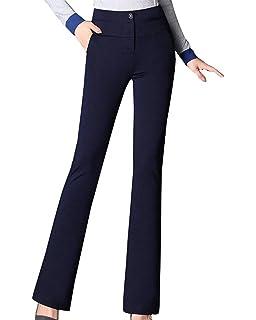Pantalon en Tissu Printemps Eté Uni Manche avec Poches avec Fermeture  Éclair Taille Haute Fille Vêtements b82f98ea6b63
