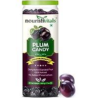 NourishVitals Dehydrated Plum Dried Fruit Candies (200 g)