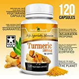 Cheap #1 Organic Turmeric Curcumin 1000mg | 100% Pure Extract Vegetarian Capsules | Herbal Hearts Premium Tumeric Non-GMO l Turmeric Supplement (120)