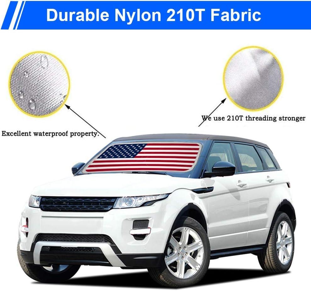59x33 AYAMAYA Portable Big America Flag Car Window Sun Shades Automotive Outdoor UV Rays Protector Waterproof Folding Sun Visor Shield Cover for Baby- Car Sun Shade Windshield Sunshade