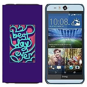 YiPhone /// Prima de resorte delgada de la cubierta del caso de Shell Armor - mejor día de menta siempre inspirador púrpura - HTC Desire Eye M910x