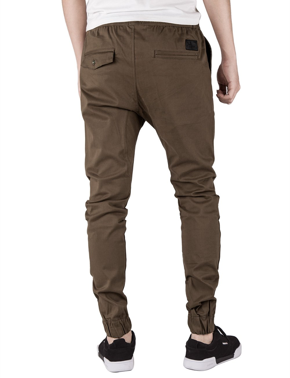 ITALY MORN Men's Chino Jogger Pants XL Coffee by ITALY MORN (Image #3)