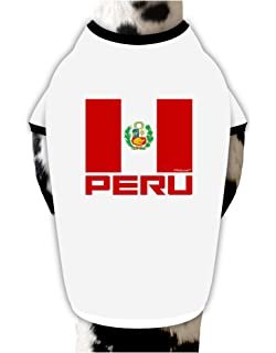TooLoud Peru Flag Dog Shirt