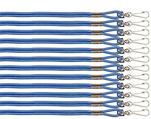 Champion Sports Heavy Nylon Lanyard - Blue (Dozen) Blue Nylon Lanyard