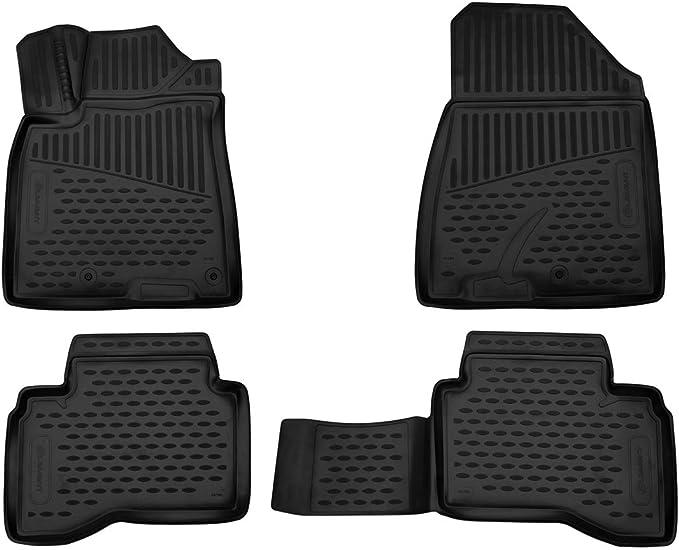 Element Exp Element3d01783210 Passgenaue Premium Antirutsch Gummi Fußmatten Kia Niro Jahr 16 20 Schwarz Auto