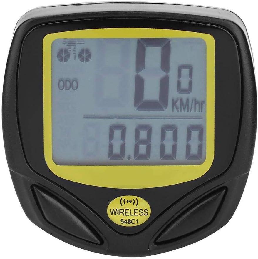 Computadora para Bicicleta Impermeable Bicicleta Cuentakil/ómetros Velocidad multifunci/ón LCD Veloc/ímetro para Bicicleta