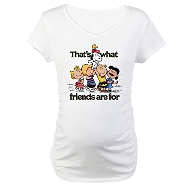 8e838cb8 CafePress Peanuts Happiness Is Friendship - Cotton Maternity T-shirt ...