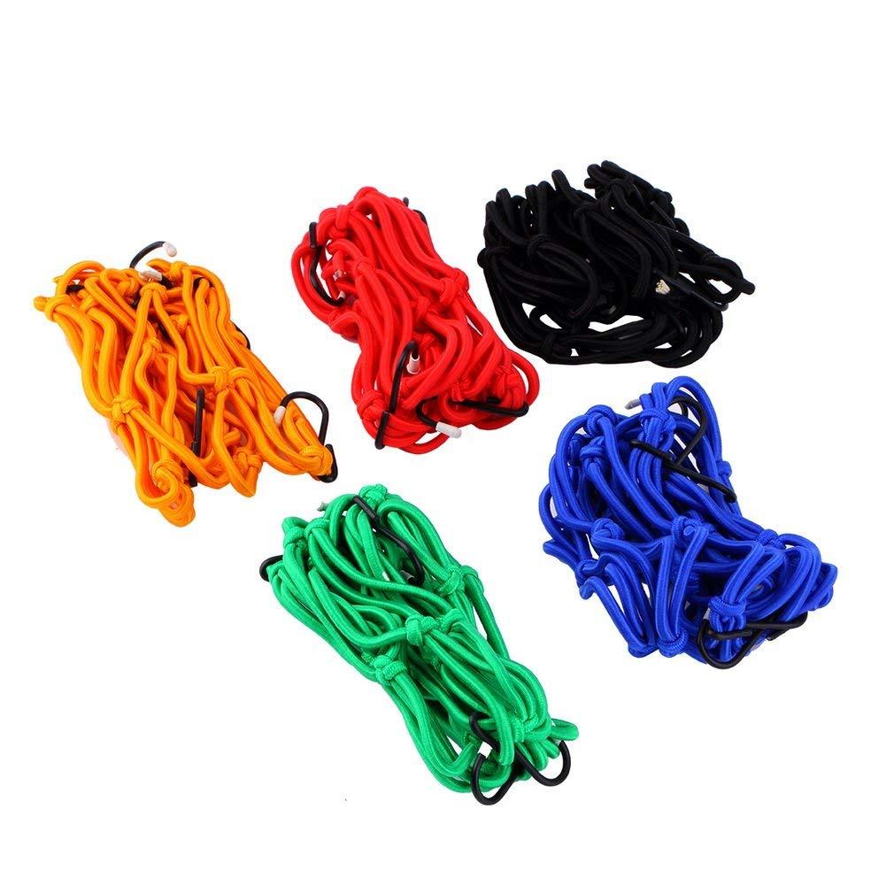 Ndier Cargo pour moto 6 crochets Maintenez Filet é lastique Baggage bagages Band
