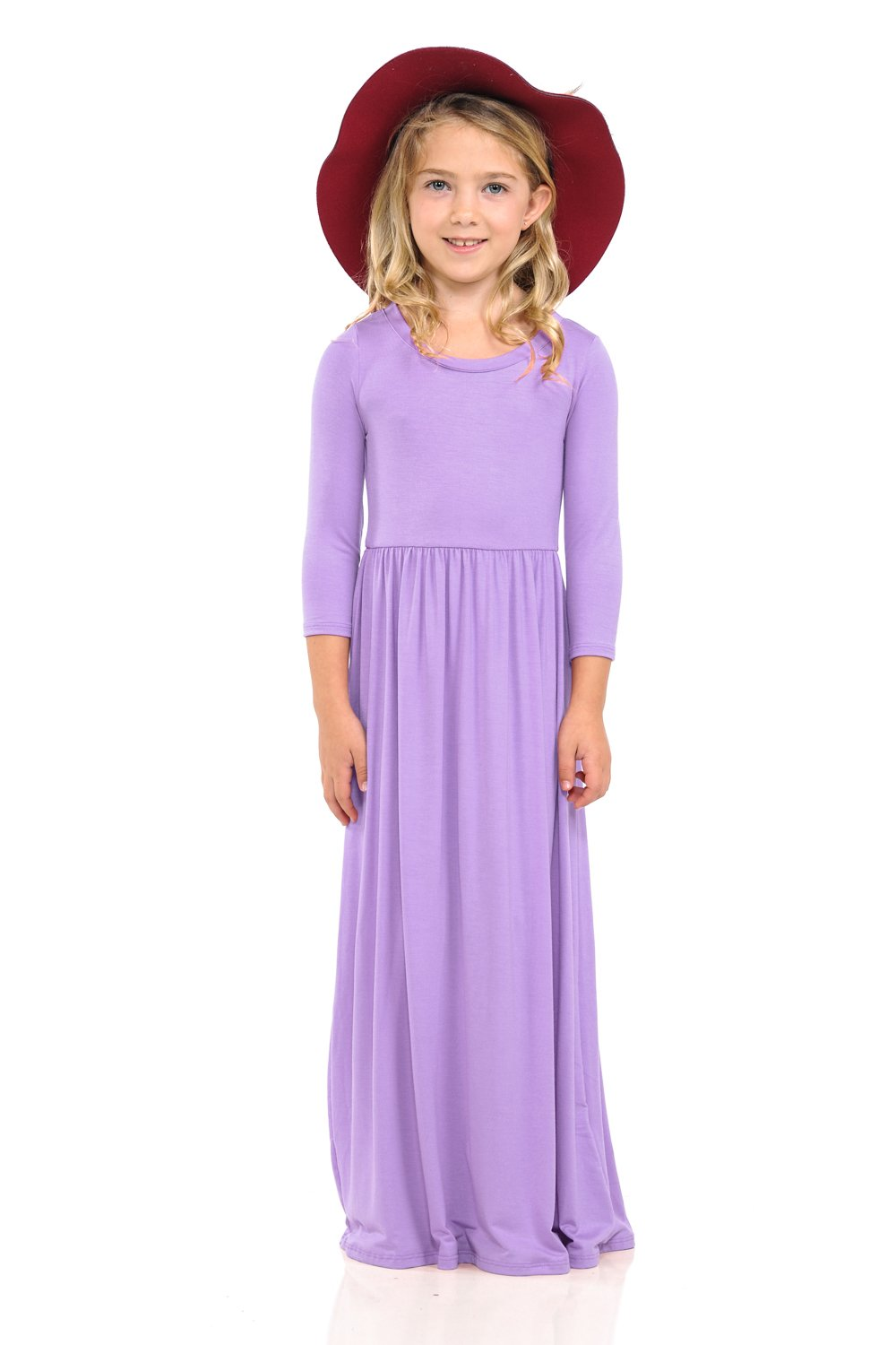 Pastel by Vivienne Honey Vanilla Girls' Fit and Flare Maxi Dress Large 9-10 Years Lavender