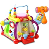 "15 Game Baby Activity Play Center – ""Happy Small World"" Fun Child Development Toy with Sounds, Lights, Music and More - by ToyThrill"