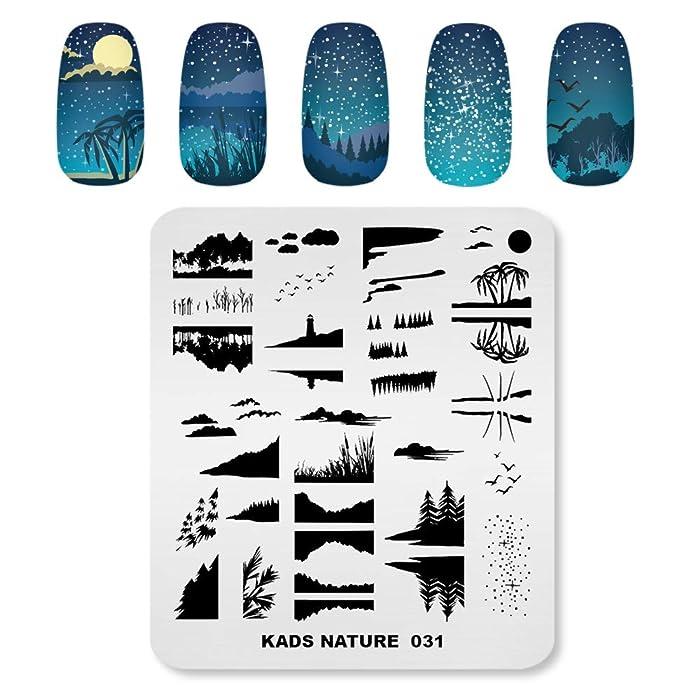 KADS Nail Stamping Plate Nature Template Image Design Plates for Nail Art Decoration and DIY Nail Art (NA031)