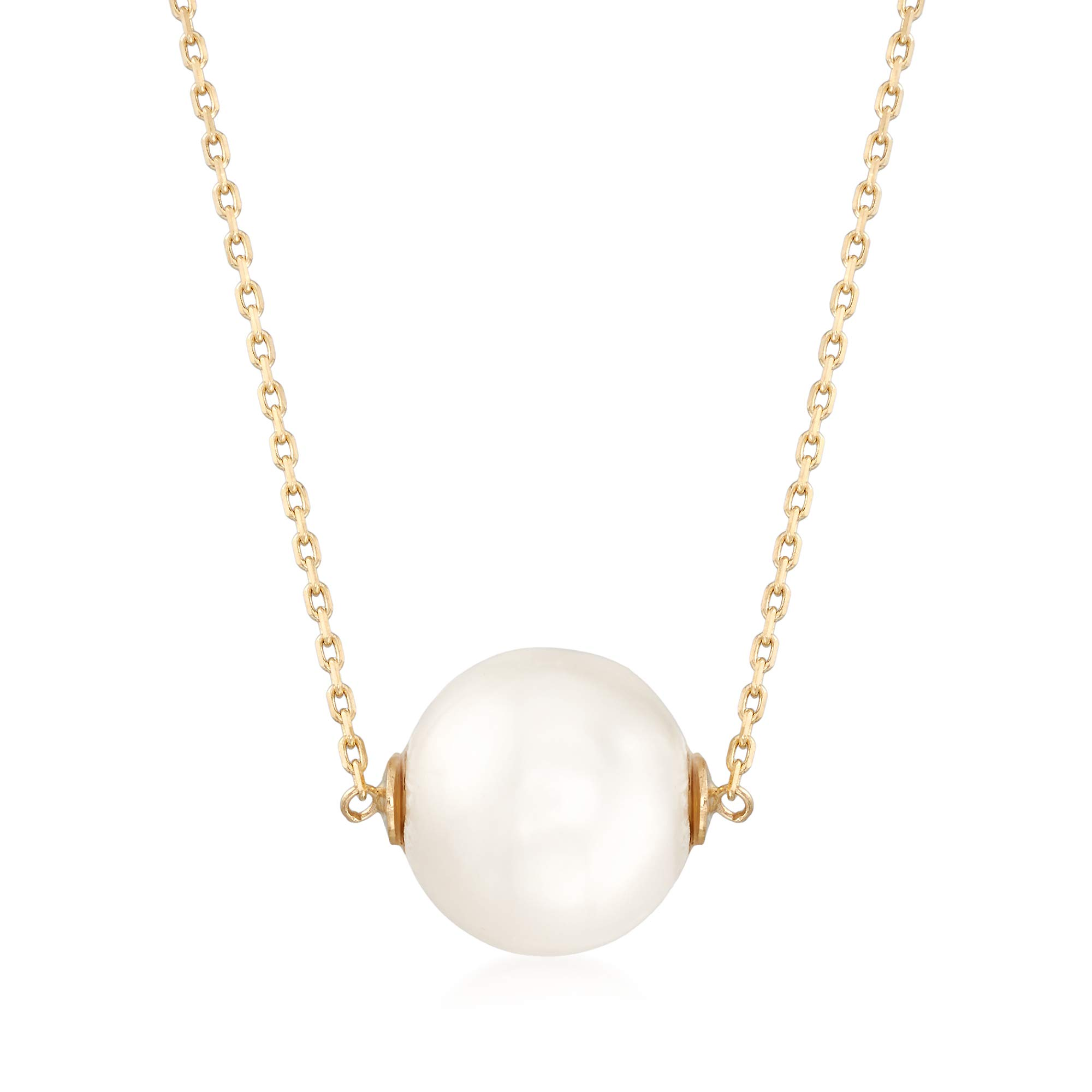 Ross-Simons 11mm Cultured Pearl Necklace in 14kt Yellow Gold by Ross-Simons