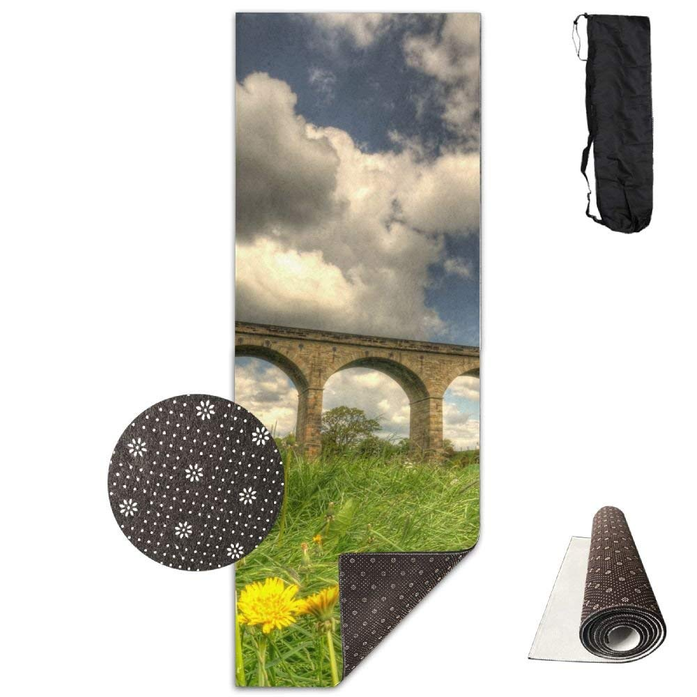 Arthington Viaduct Landscape Yoga Mat  Advanced Yoga Mat  NonSlip Lining  Easy to Clean  LatexFree  Lightweight and Durable  Long 180 Width 61cm