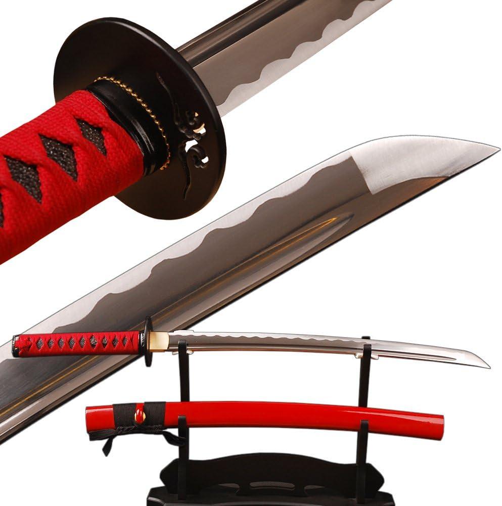 Shijian Handmade Samurai Wakizashi favorite Full Edge Sharp Tang F Knives Great interest