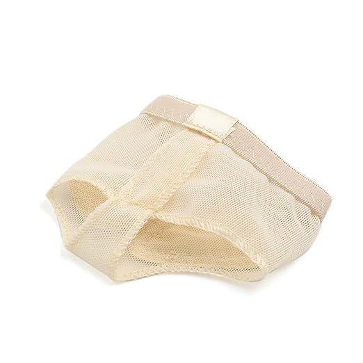 Amazon.com: eDealMax 1 Par Mujeres Color de la piel Tamaño elástico dedo pulgar separado la Media planta del antepié pad Cojín de la ayuda M: Health ...