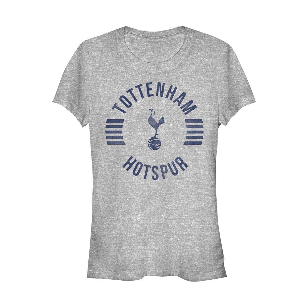 Tottenham Hotspur Football Club Juniors' Team Striped Logo Athletic Heather T-Shirt
