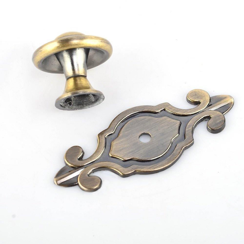 Sch/önes Leben* 10 Pcs M/öbelknopf Schrankkn/öpfe M/öbelkn/öpfe Set M/öbelgriff SetRetro Keramik T/ürknopf Bronze