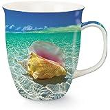 Day Dreaming Coastal Conch Shell 16 Oz Coffee Latte Tea Harbor Mug Cape Shore
