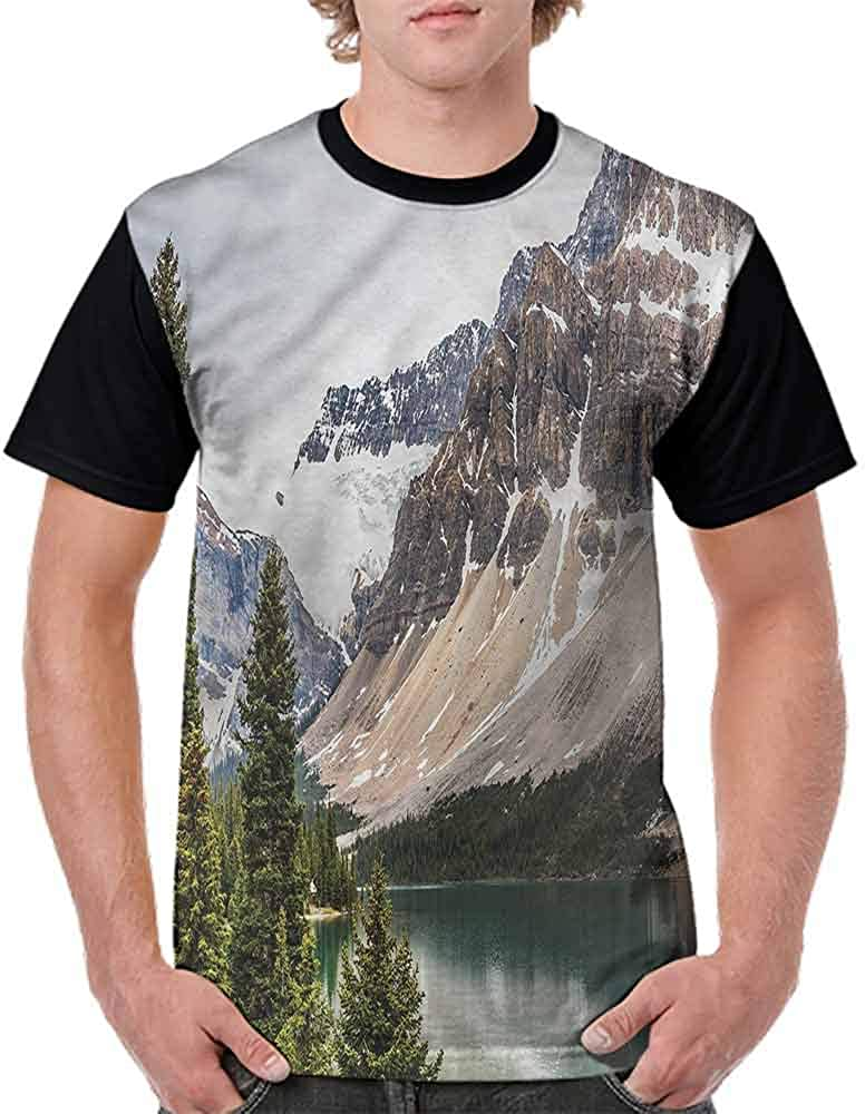 Trend t-Shirt,Alberta Rocks with Ranges Fashion Personality Customization