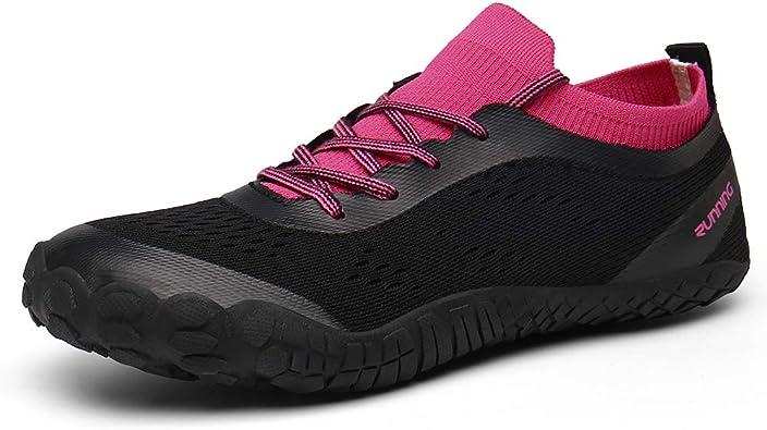 CAGAYA - Zapatillas de senderismo para mujer, unisex, minimalista, para correr, para hacer deporte, hacer deporte, para ir al aire libre, tallas 36 a 47, color Rosa, talla 43 EU: Amazon.es: Zapatos y complementos