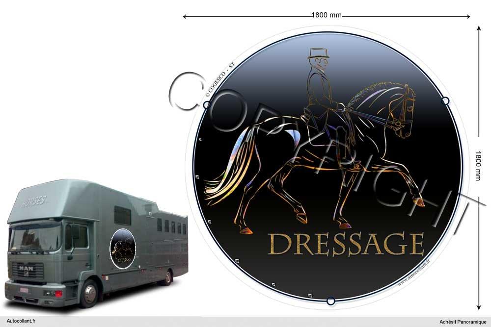 180 Cm Pets-easy  Circular Horse Sticker 10 cm x 60 cm dressage-cheval-t 180 cm