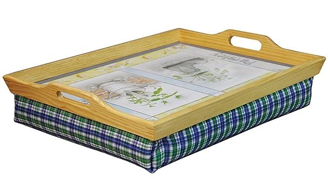 Amazon.com: Aidapt – Bandeja de madera con cojín: Kitchen ...