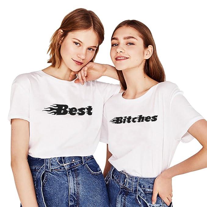 Best Friend Shirts Stampa 100 Cotone Bitch T Shirt Coppia Manica